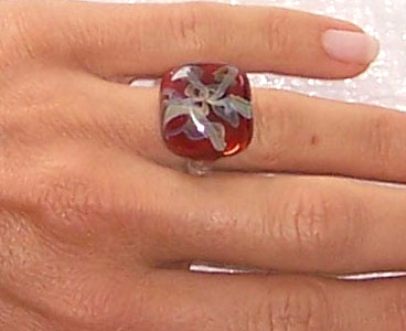 Glass Square Ring