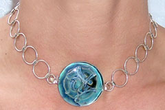 Glass Pendant on Silver Circles