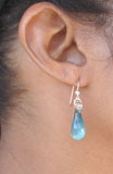 Hand Blown Glass Irish Raindrop Mini Earrings