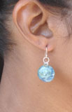 Circle Earrings on Silver